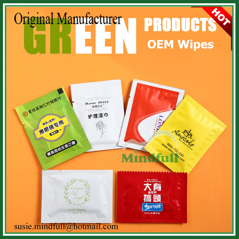 Wholesale Cheapest Lemon Fragrance Custom Printed Mini Wet Wipes For Restaurant