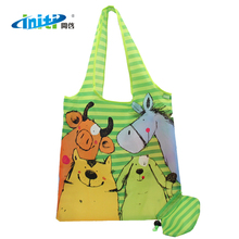 Promotional Custom strawberry polyester shopping Folding Eco Bag