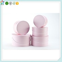 Custom cardboard elegant round flower bouquet boxes with lid