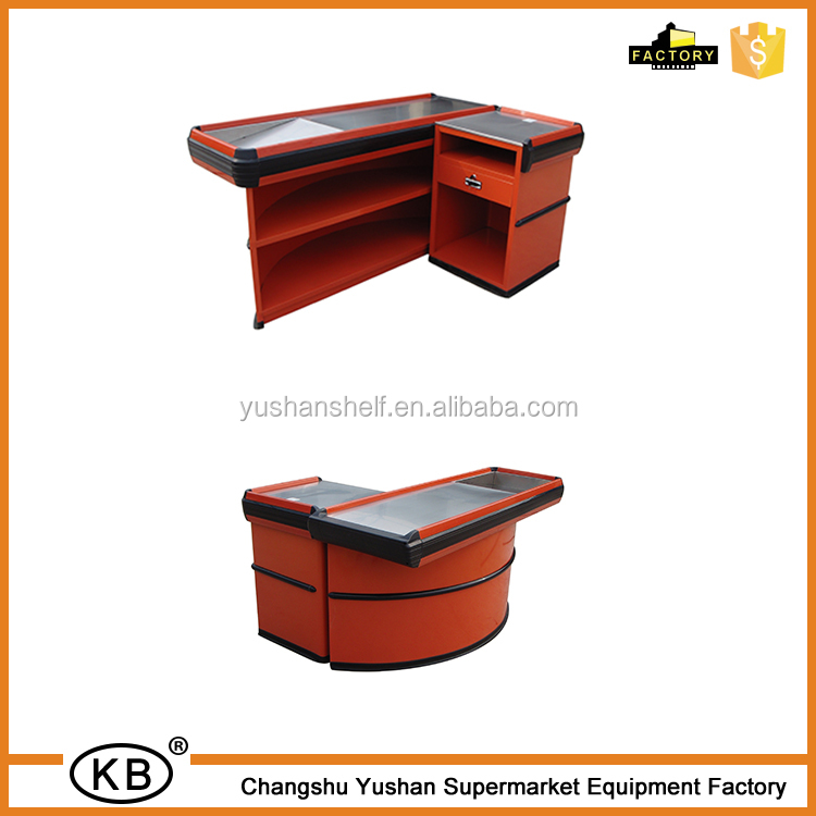 Retail Store High Quality Round Checkout Counter Cash Counter
