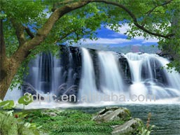 Wholesale PET 3D waterfall picture for house decoration