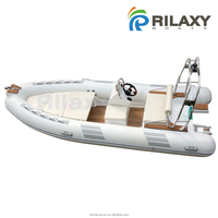 Double layer FRP hull Rigid Inflatable Boat with Natural Teak Wood Floor, CE certificated Rilaxy 16ft 4.8m RIB boat RIB 480 D