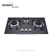 2015 cheap 3 burner table gas stove, tempered glass top gas cooker