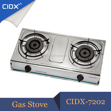 Table Stainless Steel Cooking Gas Cooker With Two Burner (CIDX-7202)