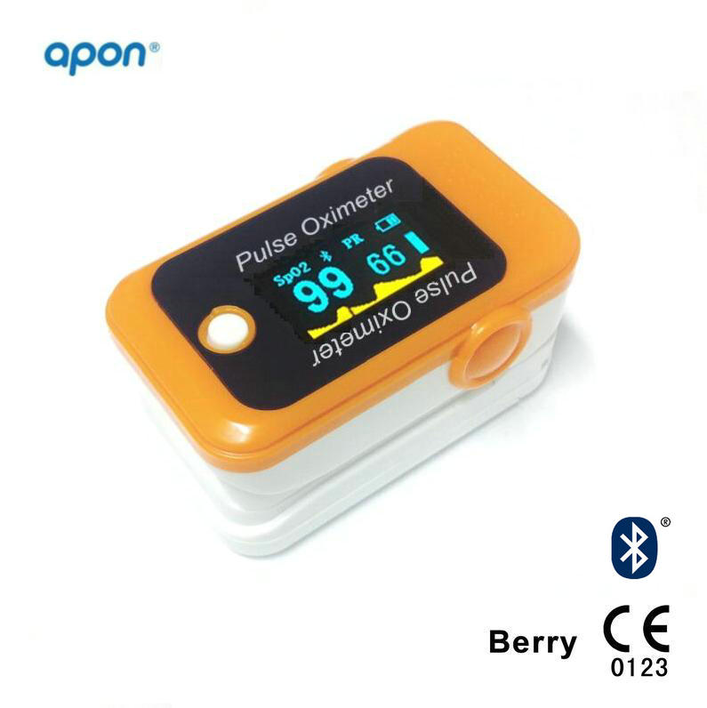 Bluetooth Pulse Oximeter Blood Oxygen Oximetry Overnight Pulse Oximeter CE Approved