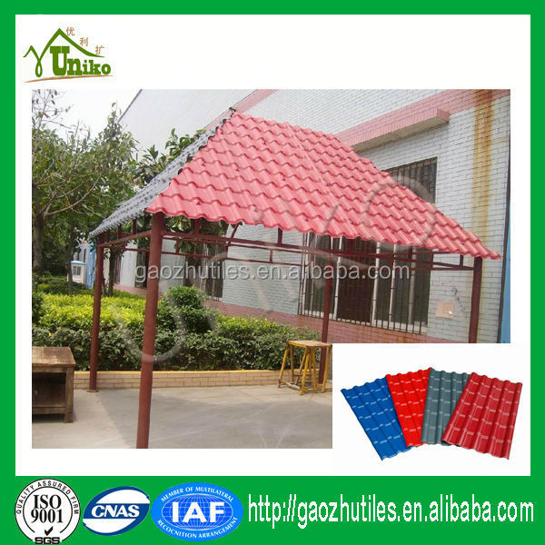 New Launched Products Recycled Rubber Roof Tiles Spanish