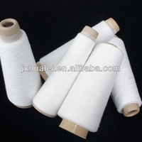 best price raw white polyester ring spun yarn wedding dress