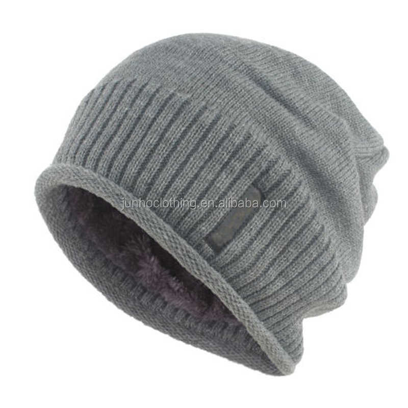 Wholesale without visor beanie ski cap hat pattern winter warm beanie knitted caps hats men