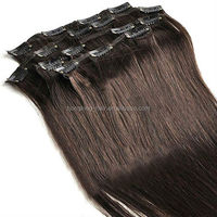 Multi-colors accept small order high quality remy clip in hair extensions