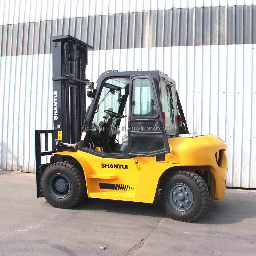 Japan ISUZU 6BG1 engine forklift truck 7 ton with Cabin