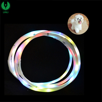 Wholesale Rechargeable Silicone Tube LED Light Flash Night Safety Collar