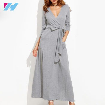Yihao 2017 high quality hot selling women Long Sleeve A Line Cacual Dress