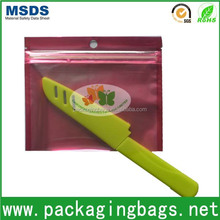 3 side seal bag ziplock with one side clear see inside product laminated