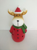 Regional feature and artificial style resin deer christmas decoration