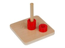 Montessori early learning Discs on Vertical Dowel montessori materials
