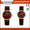 Wholesale 2016 New Fashion Cheap Leatehr Quartz Couple Watch Famous