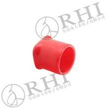 35mm red color square pvc end caps for 36mm steel tubes stainless steel bar