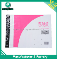 pink printed nice design color plastic mailing bags for shopping and promotion by competitive manufacturer