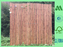 bamboo fence mahogany, roll screen carbonized, carbonizing fence