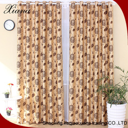 XIANA ED5007 popular hot selling suede jacquard window curtains design for living room