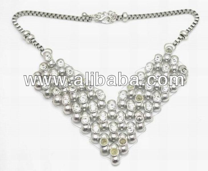 Newest FashioN Jewelry Girl's Multi Beads Chains Necklace