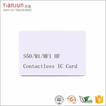 PVC Contactless Classic S50 1k Programmable ID Card Biometric Smart Card