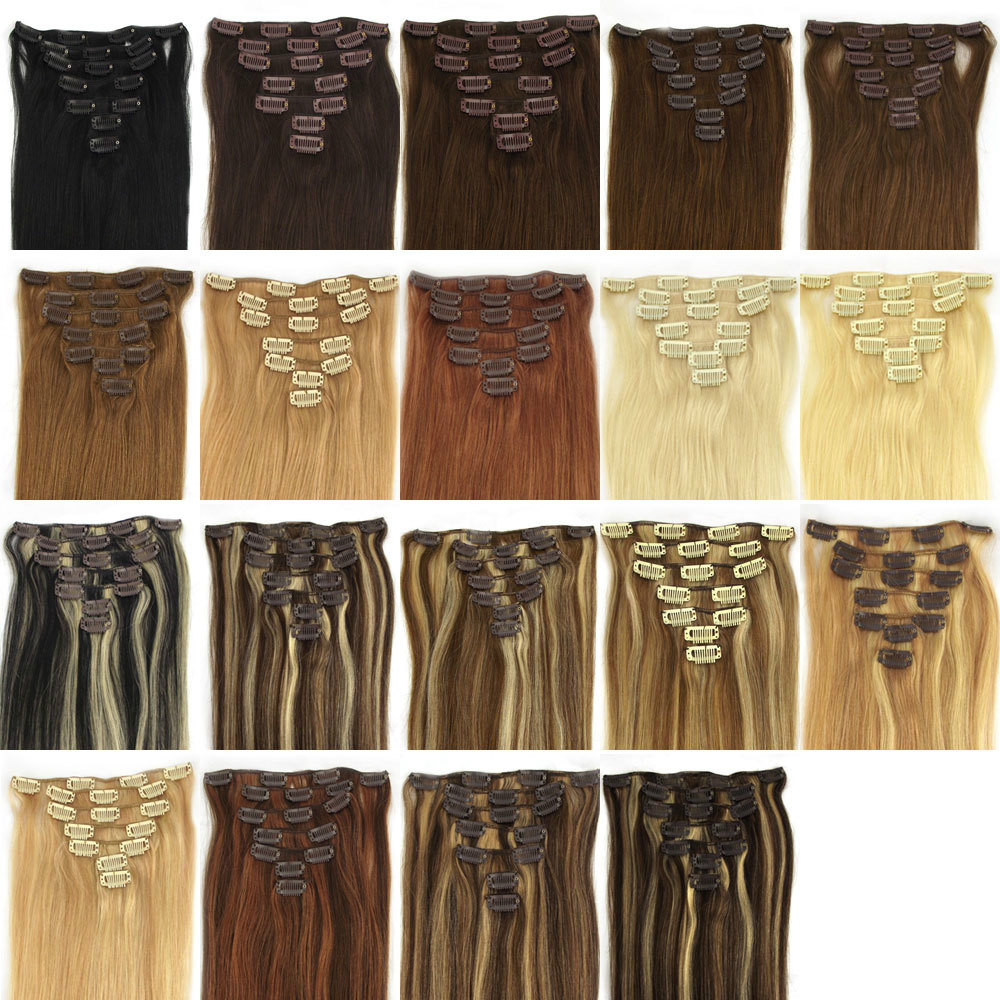 Alibaba Wholesale Hair Extension 100% Human Hair Top Quality Double Drawn Clip In Hair Extension