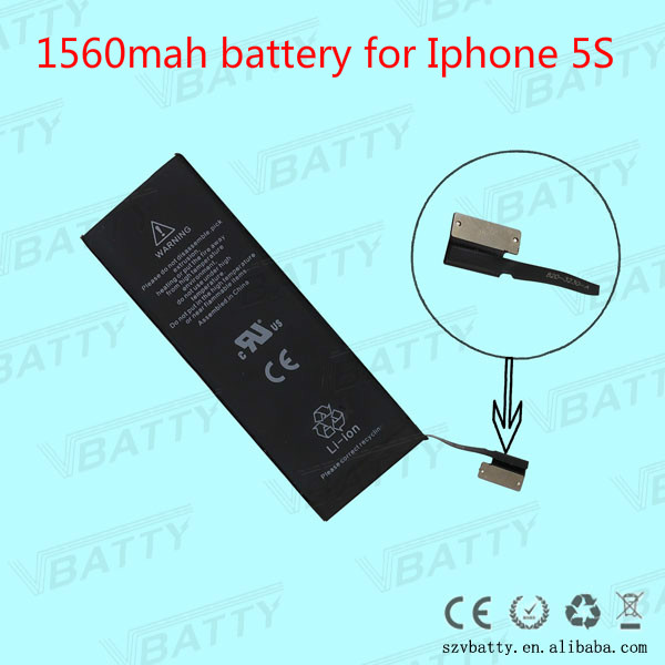 Mobile Phone Battery For Iphone 5s battery 1450mah with tools kit & retail box
