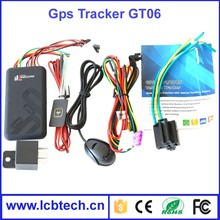 High quality remote engine off vehicle GPS tracker GT06 car gps gprs tracker SOS alarm