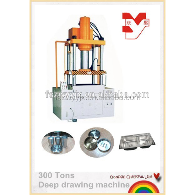 300 tons Deep Drawing Hydraulic Press for Sheet Metal