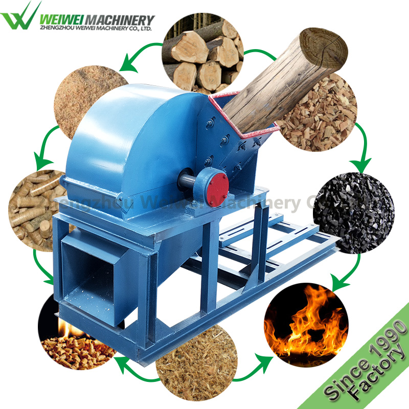 Weiwei brand agricultural machinery and equipment  bamboo wood chipper grain stump grinder pine logs for sale