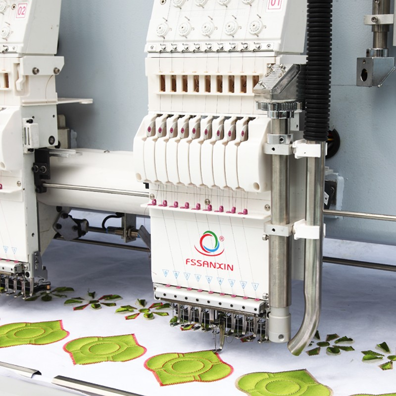 9 color 24 head computer Embroidery machine with laser cutting system