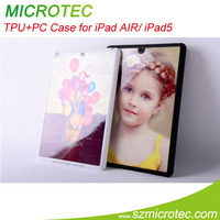 Sublimation transfer TPU case/cover for ipad air MT-IPD07W/BK