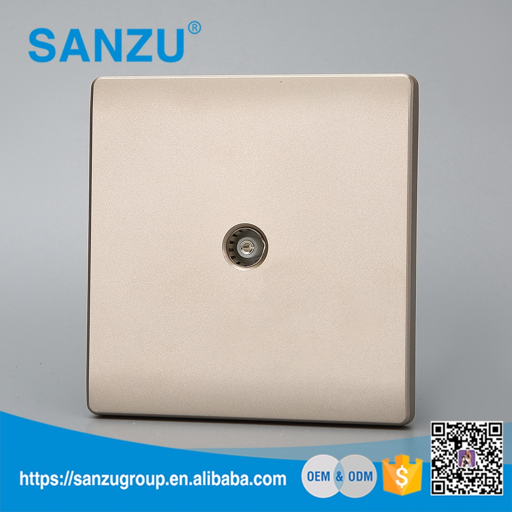 China manufacture function security satalite tv wall socket with sample