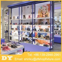 Wholesale retail used shoe store display racks for shoe store