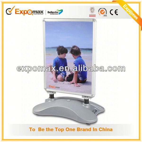 PVC Board Poster Display Stands , Lightweight Metal Snap Frame