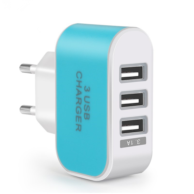 3 Ports 2.1A Micro USB EU Plug Charging Power Mobile Phone Adapter for iPad iPhone 8 7 6s 6 5s 5 4 Samsung Wall Charger