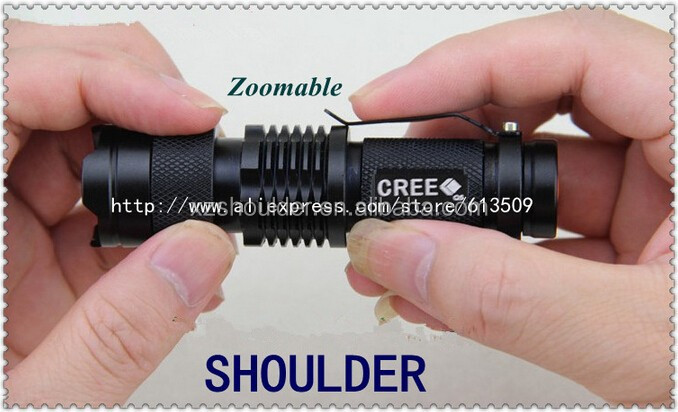 Waterproof Camping Power Flashlight torch Q5 3 Mode FREE SHIPPING Popular LED Flashlight Adjustable Zoomable climbing Hiking