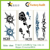 2015 specialist manufacturer of body temporary tattoo sticker with good price