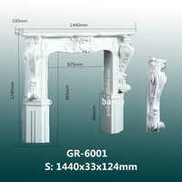 Best-Selling House Decorative Hand Carved Polyurethane Fireplace Frame