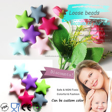 Fashion FDA Approved Loose Chew Beads For Jewelry Baby Chew Soft BPA Free Silicone Teething Beads