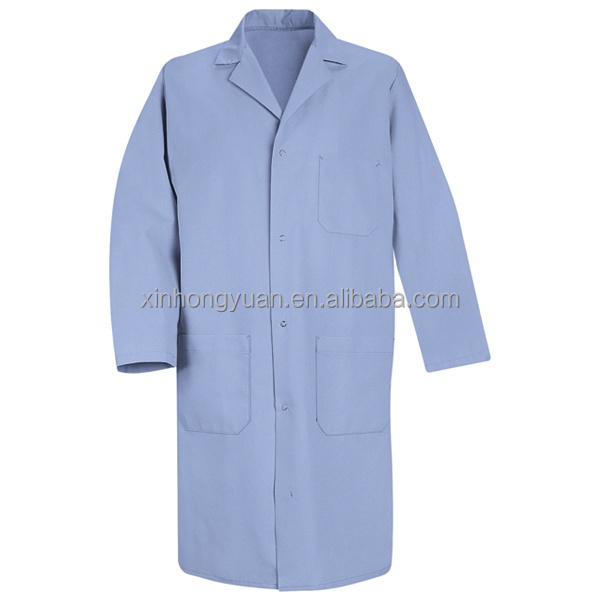 custom design 100% cotton blue lab coats