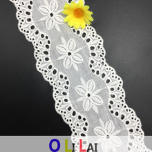 8.7CM OLT0231 Types of Cotton Laces For Garments Lace Trimming 2017