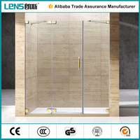 popular tempered glass frameless bathroom shower cubicles and trays