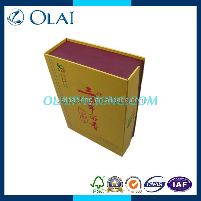 bestseller fancy double wine paperboard box from china for sale