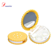 2016 New Fashion Hot Sale Cartoon Biscuit Candy Color Eye wear Accessories Contact Lens Box Case