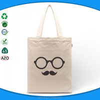 100% eco fabric cotton canvas bag cotton shopper bag for women shopping