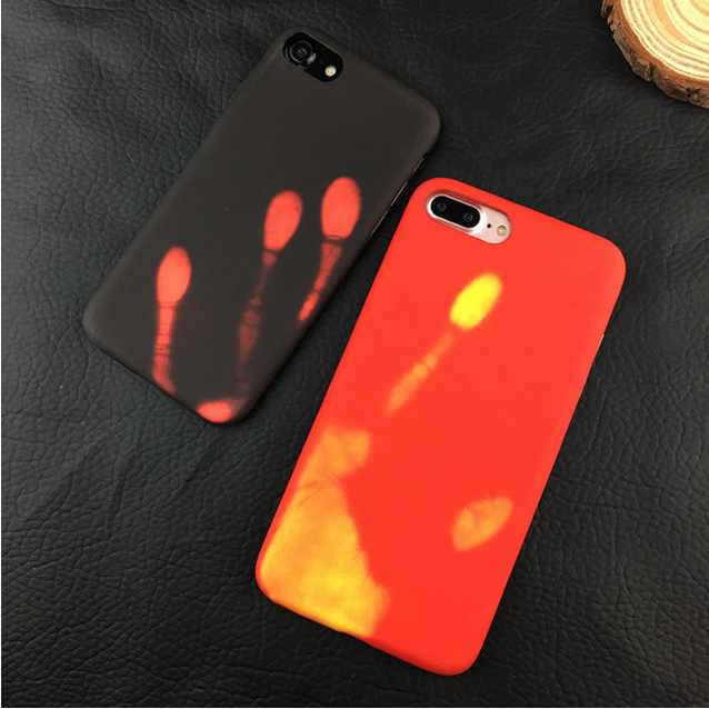 Fashionable Color Change Discoloration Frosted Soft Thermal Induction Case for iPhone 8