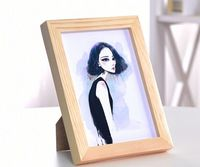 Natural solid wood photo frame wholesale photo piture frame