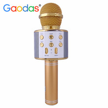 Wireless Karaoke Microphone for Kids with BT Speaker,USB-Stick Player, Portable Karaoke Machine